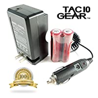 TAC10 GEAR Batteries Plus AC/DC Digital Battery Charger - Home or Car Power Source