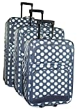 Ever Moda Polka Dot Luggage Set (Polka Dot - Grey White)