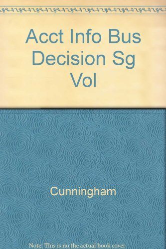 Study Guide, Vol 2 to accompany Information for Business Decisions