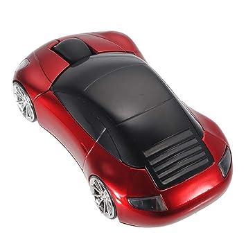 Xiton 3D Forma del Coche ratón inalámbrico Optical Cordless Mice para PC Portátil Ordenador Portátil (Rojo) 1 PC: Amazon.es: Electrónica