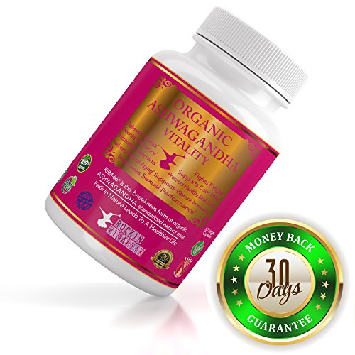 ASHWAGANDHA EXTRACT- Best Herb Root Powder 60 Capsules by Rockin' Vitality
