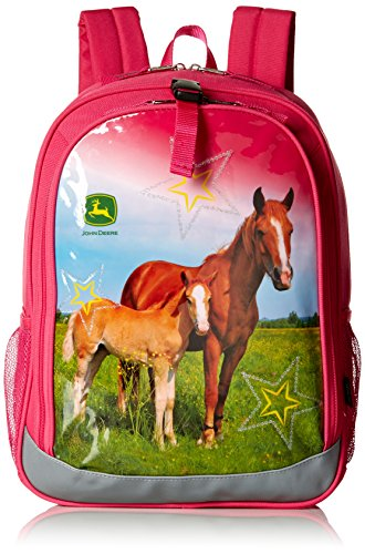 John Deere Girls' Backpack, Pink (Bottle Water John Deere Kids)