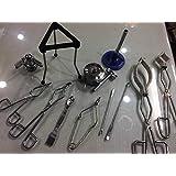 Beaker Flask Tong Test Tube Holder Spatula Lab Kit Set Of 13