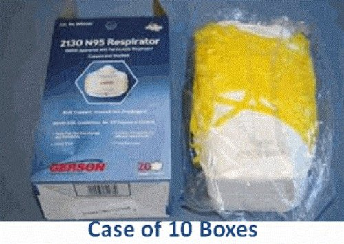 Gerson 2130 Smart Mask N95 Mask (Case of 10 - 20 Cont Boxes) by 2130 N95 Respirators