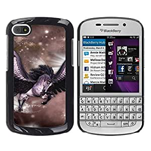 Design for Girls Plastic Cover Case FOR BlackBerry Q10 Pegasus Stars Horse Wings Flying Mystical OBBA