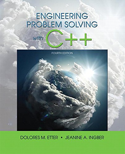 Engineering Problem Solving With C++ (4th Edition)