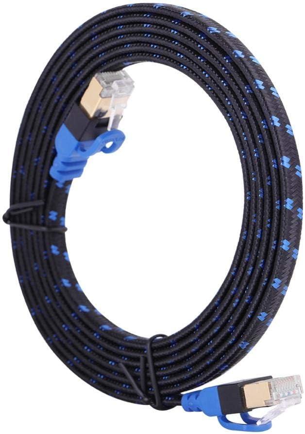 5 Meters AMONIDA Cat7 RJ45 Ethernet Flat Patch Network LAN Internet Cable Cord 0.5-10M Lot RH