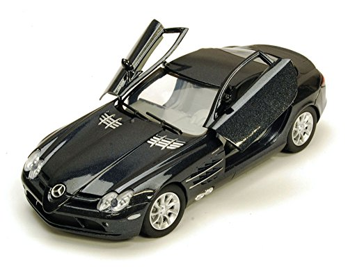 Mercedes Benz SLR McLaren, Black - Motormax 73306 - 1/24 scale Diecast Model Toy Car