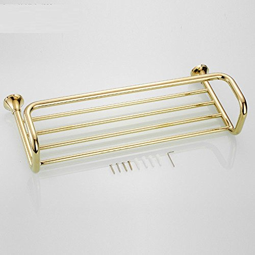 MBYW Modern Minimalist high Load-Bearing Towel Rack Bathroom Towel Rail European    Bathroom   Hardware Pendant    Gold-Plated    Copper    Towel Rack    Towel Rack ()