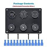 Cllena 12V Cigarette Socket Panel, 3-Socket