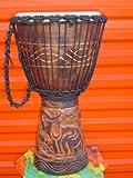 GORGEOUS! 24'' X 14'' Djembe Deep Carved Hand Drum Bongo ELEPHANT - Model # 60m18