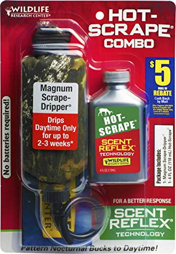(Wildlife Research Dripper Combo Synthetic Hot Scrape Scent, Silver, 4 oz)