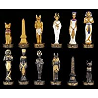 Figurines d'échecs Set - Egypte doré et noir - Échec figurines