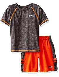 Conjunto atlético de camiseta y pantalón corto de dos piezas para niños pequeños y grandes de STX
