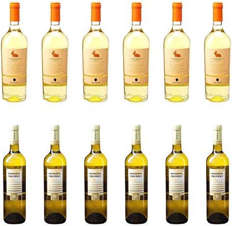 [ 12本 まとめ買い ワイン 飲み比べ ] 2018年 ヴィッラ アンジェラ シャルドネ (ヴェレノージ) 750ml と 2018年 オルキデア (ボデガ イヌリエータ) 750ml ワインセット