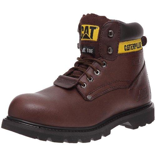 caterpillar sheffield steel toe mens safety boots brown. Black Bedroom Furniture Sets. Home Design Ideas