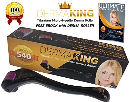 New DermaKing Derma Roller System 100% Micro Titanium Needles 0.25 mm, For Home Beauty Skin Care Use