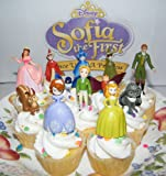 Disney Princess Sophia the First Cake Toppers / Cupcake Party Favor Decorations Set of 12 includes the 3 Fairies, 4 Animal Friends, King and Queen and More!