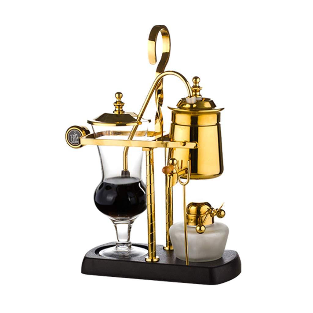 Manual Coffee Machine Siphon Drip Manual Coffee Machine Gold And Silver Glass Coffee Pot