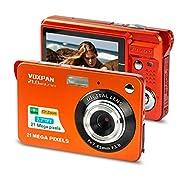 VOXPAN Digitalkamera für Anfänger, 8X Digital Zoom HD Digitalkamera Fotoapparat 21 MP 1080P HD 2,7 Zoll Foto…
