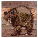 Black Forest Decor Mountainside Bear Wood Wall Plaque
