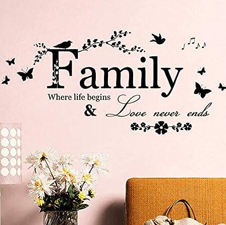 fssdd El Amor de la Familia Nunca Termina Cita Vinilo Tatuajes de ...