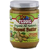 Teddie Organic All Natural Peanut Butter, Creamy 16 Ounce Jar