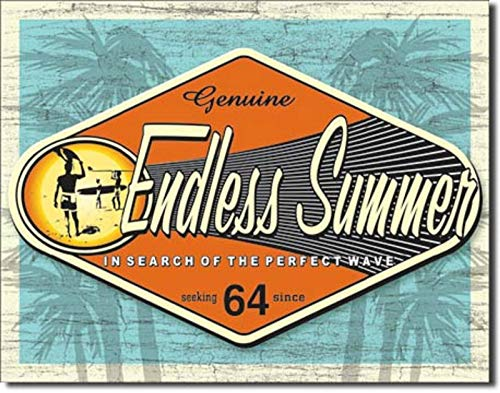Endless Summer in Search of The Perfect Wave Surfboard FIN Beach Metal Sign from Endless Summer