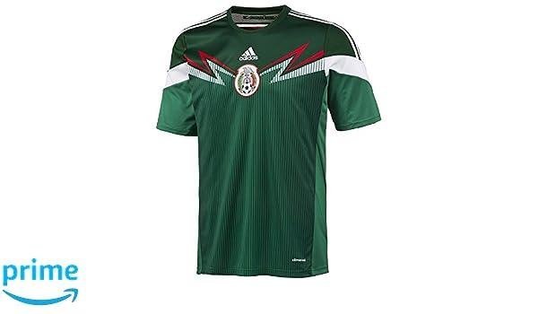 ddc35eb7c4e Amazon.com: Adidas Mexico Home Training Jersey Tee - Green - Mens: Sports &  Outdoors