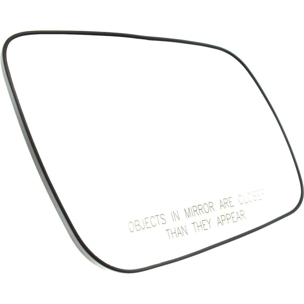 Fits 08-14 Mitsubishi Lancer Left Driver Heated Mirror Glass w//Rear Holder