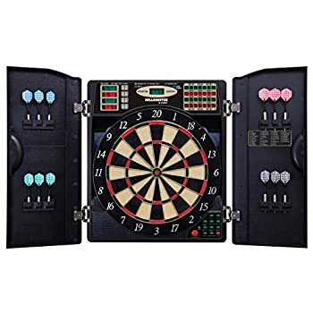 Image of Bullshooter by Arachnid E-Bristle 1000 LED Electronic Dartboard Cabinet Set Cabinets