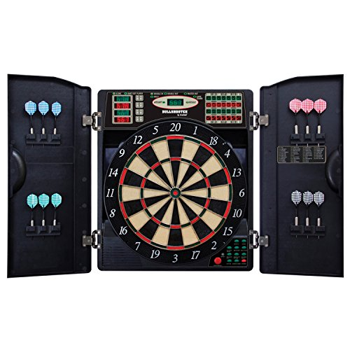 (Bullshooter by Arachnid E-Bristle 1000 LED Electronic Dartboard Cabinet Set)
