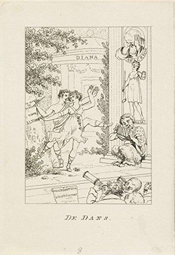 Classic Art Poster - Dance theater, Jacob Ernst Marcus, 1803 16.5' x 24'