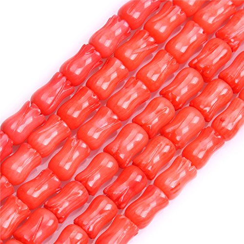 Flower Coral Natural Pink (6x9mm Flower Shape Pink Coral Beads Strand 15 Inches Jewelry Making Beads)