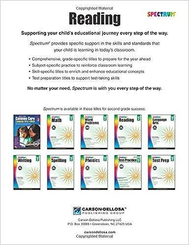 Spectrum Reading Workbook, Grade 2: Spectrum: 9781483812151 ...