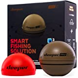 Deeper Chirp 2 Castable and Portable WiFi Fish Finder with Extended Battery and Night Fishing Cover for Kayaks Boats on Shore
