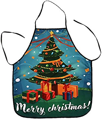 Rovinci_Funny Impreso Navidad Lindo Santa Claus Delantal Cocina ...