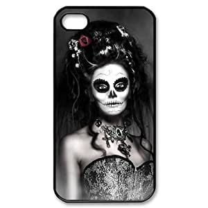 D-PAFD Customized Print Sugar Skull Pattern Back Case for iPhone 4/4S