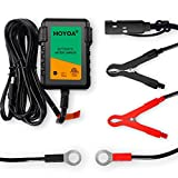 HOYOA 12v 750mA Car Battery Trickle Charger Maintainer, Lead Acid/Gel/AGM Battery chargers for Motorcycle Automotive and Lawn Mower