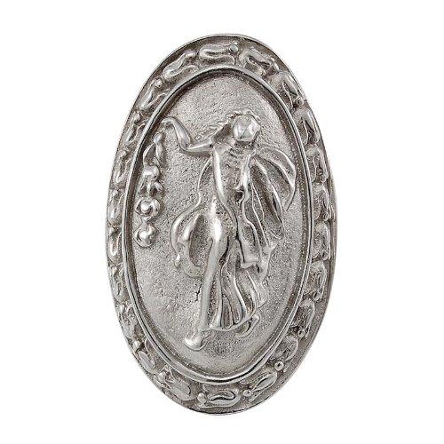 Vicenza Designs K1030P Sforza Small Base Woman Oval Knob, Large, Polished Silver