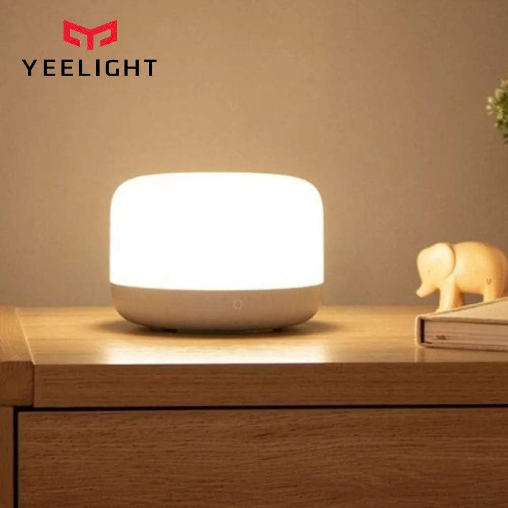Yeelight YLCT01YL Lámpara de mesilla táctil LED colorida Inteligente Luz nocturna regulable Trabajo con Homekit, Control de voz