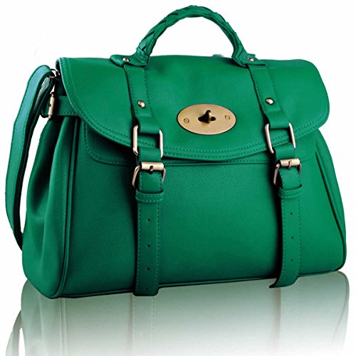 Xardi London-Borsa a spalla da donna motivo Borsa Tote-Borsa a tracolla Emerald