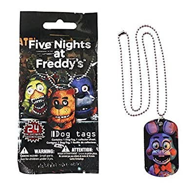 """Officially Licensed Five Nights At Freddy's Dog Tags Necklace Mystery Pack """"Contains 1 Random Dog Tag Necklace"""""""