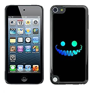 Impact Case Cover with Art Pattern Designs FOR Apple iPod Touch 5 cool funny face smile evil teeth black Betty shop