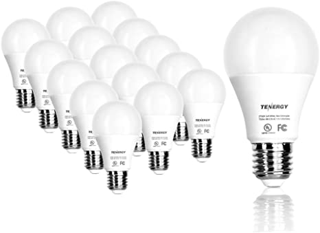Tenergy 9w Led Bulb 60 Watt Equivalent A19 Led Light Bulbs E26 Household Lightbulb 750 Lumens Energy Saving Lamp Soft Warm White 2700k Lights