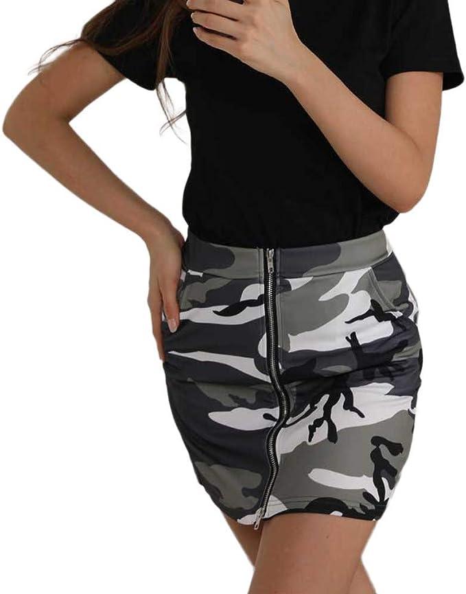 Faldas Para Mujer Faldas Con Estampado De Camuflaje Para Mujer ...