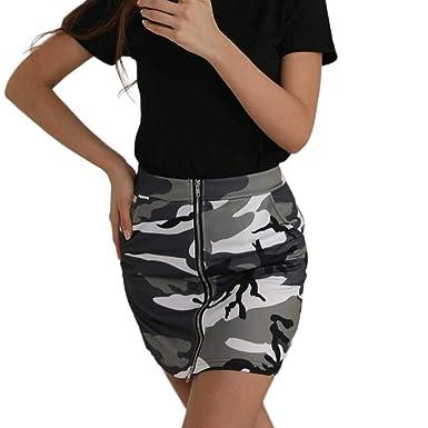 Faldas para Mujer Faldas Festiva Estampado De Ropa Camuflaje con ...