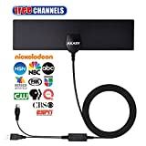 digital attenas - AKARY TV Antenna, Digital Antenna for HDTV with Amplifier Signal Booster 50 Miles Range Reception Indoor Antenna Freeview Local Channels [2018 Newest Version]