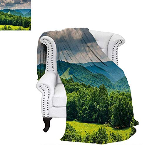 - Velvet Plush Throw Blanket View of Mountains in Potomac Highlands of West Virginia Rural Scenery Picture Throw Blanket 60