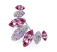 Rainbow Box Brooches for Women Fashion with Swarovski Jewelry Women's  Brooches & Pins